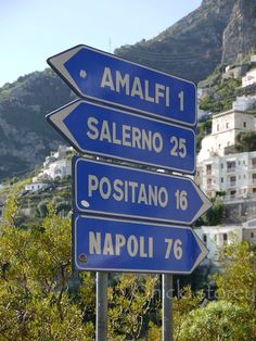 Italian coast signs .... warms my heart to see this sign. Such a good memory of when we were there.