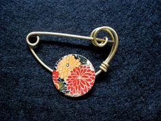 Japanese brooch kimono shawl pin by celtsmith on Etsy, $15.00