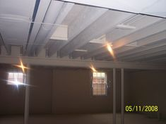 More painted ceiling ideas for basement gym