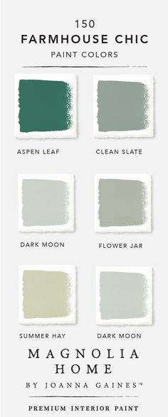 The intense jade green color of Aspen Leaf shines when paired with lighter neutral colors like Summer Hay and Flower Jar. Check out the rest of the Magnolia Home by Joanna GainesTM paint collection to find an incredible mixture of timeless neutrals paired with bright colors.