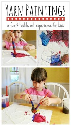 Yarn paintings are a fun and tactile art activity for kids involving glue-soaked yarn and paint. And the results are strikingly three-dimensional!