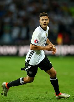 Jonas Hector of Germany in action during the UEFA EURO 2016 Group C match between Germany and Ukraine at Stade Pierre-Mauroy on June 12, 2016 in Lille, France.