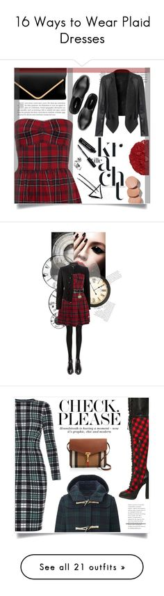 """16 Ways to Wear Plaid Dresses"" by polyvore-editorial ❤ liked on Polyvore featuring PlaidDress, waystowear, Illamasqua, Miu Miu, Bobbi Brown Cosmetics, Wolford, Yves Saint Laurent, H&M, Nina Ricci and dresses"