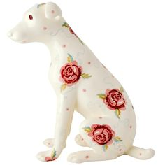 Rose and Bee Terrier Statue Right 2016