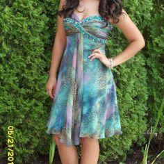 Multi Color Sherri Hill Short Prom Dress