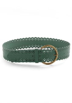 Scallop to Speed Belt in Green, #ModCloth