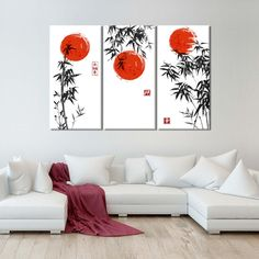 Japanese Bamboo Multi Panel Canvas Wall Art by ElephantStock is printed using High-Quality materials for an elegant finish. We are the specialists in Modern Décor canvas prints and we offer 30 day Money Back Guarantee Japanese Bedroom Decor, Japanese Inspired Bedroom, Japanese Home Decor, Japanese Decoration, Asian Inspired Decor, Japanese Wall Art, Japanese Bamboo, Bamboo Art, Mural Wall Art