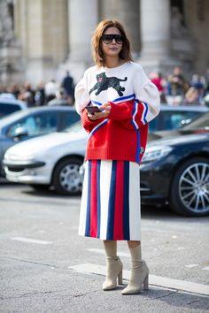 Christine Centenera, Vogue Australia fashion director, in Gucci. Photo: Chiara Marina Grioni/Fashionista .