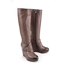 Italia Wedge Boots Grigio