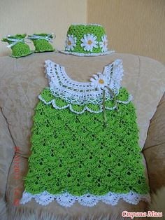 crochet dress and top for baby | make handmade, crochet, craft