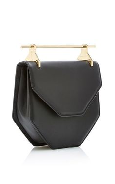 Amorfati Cross Body Black Leather Bag by M2MALLETIER Now Available on Moda…