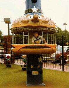 I wish I remembered when McDonald's playgrounds looked like this! So awesome. Looks like the 70s. I'm sure my sister remembers.
