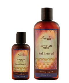 Egyptian Musk - Bath & Body Oil. A versatile oil that goes on light, absorbs quickly, and lasts. Formulated with certified #organic oils that are optimal for skin care. An ingredients label to love. Delicately scented with Kuumba Made's top selling #fragrance. Your skin will be delighted, hydrated, and replenished. Also excellent for your hair.  Available in two sizes and several other exquisite fragrances or in unscented.  Moisturizing skin nutrition. Stop by just to read the label.
