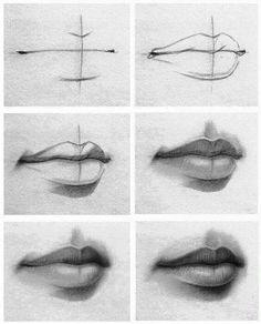 Cartoon block lips