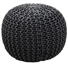 Cable Knitted Pouffe