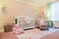 pink gray and black nursery