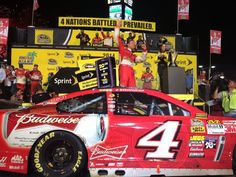 That face says it all! @KevinHarvick celebrates a win @HomesteadMiami & his 1st @NASCAR Sprint Cup Series title! -KC (Twitter: Miss Sprint Cup @MissSprintCup)