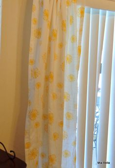 Yellow and While Dandelion  Curtains    25 Wide 84 Length  Ready to Ship on Etsy, $71.08 AUD
