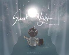 Chibi Wallpaper, V Bts Wallpaper, Cartoon Wallpaper, Taehyung Fanart, Bts Taehyung, Chibi Bts, Goblin Art, Sweet Night, Bts Aesthetic Pictures