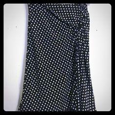 BCBG Polka Dot skirt Super cute and girly BCBG black and white polka dot skirt BCBG Skirts