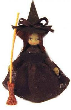 Doll for a doll - Bad witch - $46.00 : S P MINIATURES - hand crafted dollhouse miniatures, S P MINIATURES - shop online for dollhouse miniatures