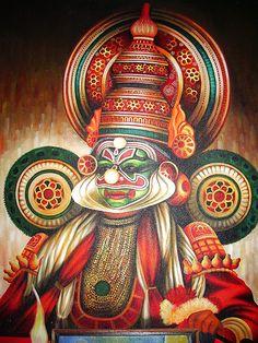 Kathakali painting | Flickr - Photo Sharing!