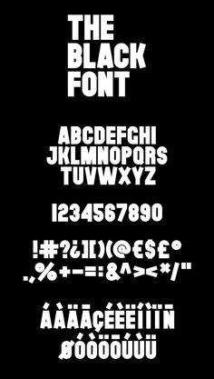 The Black Font free font / typeface