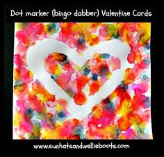Sun Hats & Wellie Boots: Heart Cards - with Dot Markers