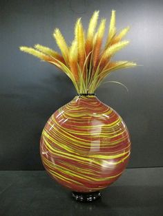 Swirl Hand Blown Glass Vase by KatzGlassDesign