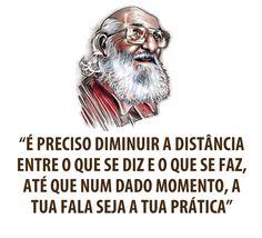 Frase de Paulo Freire que inspira a Educação a distância. #e-learning #imagem