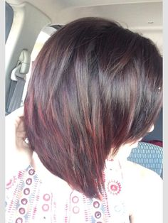 Dark brown to deep red ombre