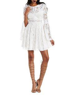 Ark & Co Burnout Lace Skater Dress: Charlotte Russe