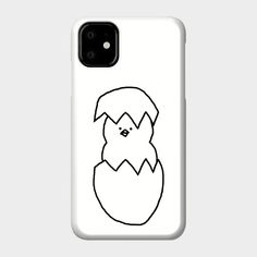 chicken phone simple case outline line drawings teepublic cases drawing cat