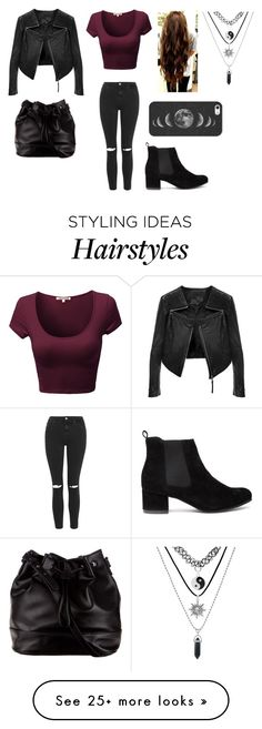 """Untitled #874"" by victoria-motionless-cerulli on Polyvore featuring moda, Topshop, Linea Pelle, Casetify e ZALORA"