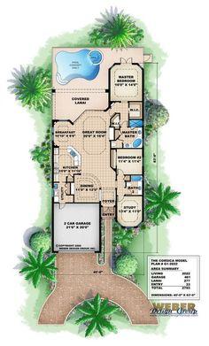 2022 sq ft...Tuscan Floor Plan - Corsica Home Plan
