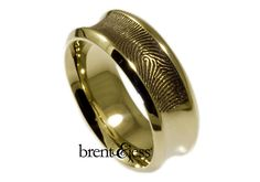 Brent & Jess LLC Jewelry - Concave fingerprint wedding band