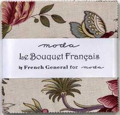 Charm pack Le bouquet français by french general for moda