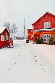 Christmas day snowfall, Åland Islands, Finland