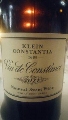 Klein Constantia Vin de Constance 2011 Natural Sweet Muscat de Frontignan 95 Points Sommelier #MiguelChan #SouthAfrica #Wine