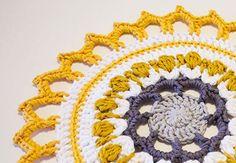 Make a Crochet Mandala For Your Home