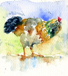 Rooster 1 Painting  - Rooster 1 Fine Art Print