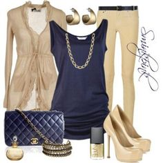 Outfit glam blue