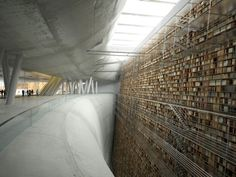 Concept art for the Stockholm Public Library