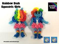 Rainbow Loom Rainbow Dash My Little Pony Equestria Girl MLP - YouTube