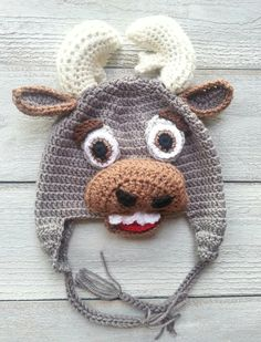 Fantastic quality crochet hat inspired by Sven the reindeer from Frozen