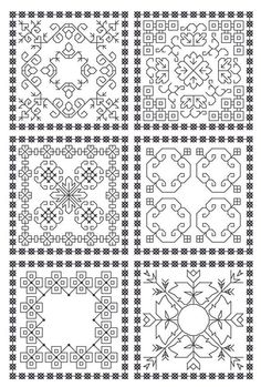I love the look of blackwork embroidery. It's classic and graphic. Now if only I knew how to embroider...