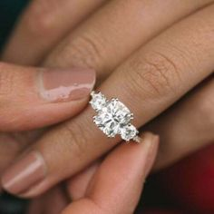 Details about  /3 Ct Round Cut VVS1 Diamond 14K White Gold Finish Three Stone Engagement Ring