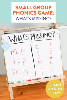 Looking for a new game to kick off your guided reading or phonics group? This easy warm up has students figuring out what is missing from a list of words, letters, or numbers! Head on over to the blog post to learn how to play!