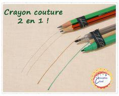 crayon 2 en 1 pour patron de couture