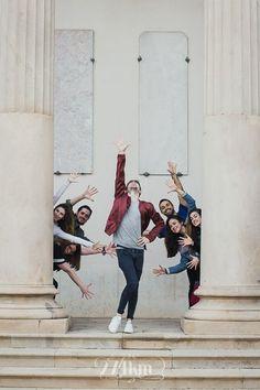 Sesión de fotos de retrato de un grupo de amigos en el parque de la ciudadela de Barcelona (18)